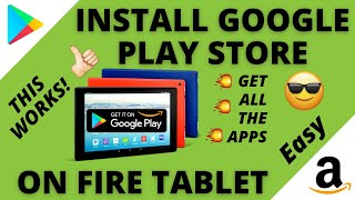 Download Google Play Store on Amazon Fire Tablet (2021) THIS WORKS! screenshot 1