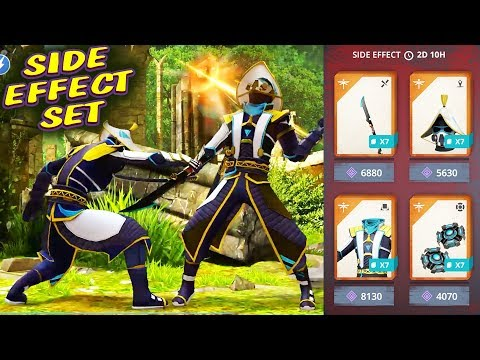 Shadow Fight 3. Side Effect Set in Action. Grinding Survival and Arena with 12355 Power!