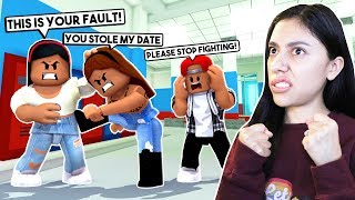 I GOT IN A FIGHT WITH MY BEST FRIEND BECAUSE I STOLE HER DATE! - Roblox Roleplay