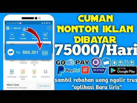 Gokil Nonton Iklan Dibayar 75 000 Hari Aplikasi Penghasil Uang Dana Gopay Ovo 2020 Dienamsyadiah Youtube