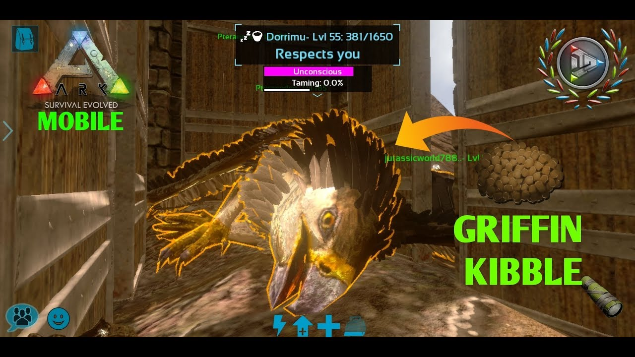 ARK MOBILE - Taming Griffin With Griffin Kibble