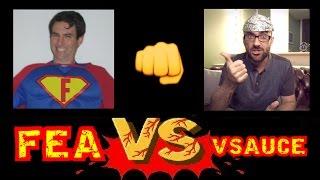 Flat Earth Asshole vs Vsauce