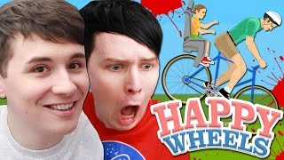 Dan and Phil play HAPPY WHEELS!!