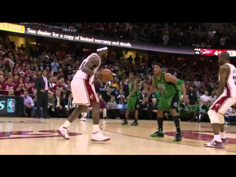 LeBron James    With No Regard For A Human Life    Monster Dunk on Kevin Garnett   HD
