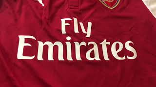 Elmontyouthsoccer.com 17-18 Arsenal Home Jersey unboxing review
