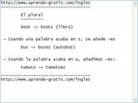 Curso de ingl s 04 formaci n del plural youtube for 10 reglas del salon de clases en ingles
