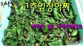 고춧잎요리 고추잎장아찌 간장소스 만드는법 비타민 B2 …