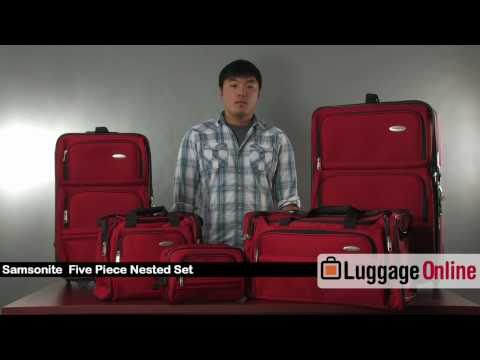 854f0ddae Samsonite 5-Piece Nested Luggage Set Review - Luggage Online - YouTube