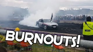 Australian Burnouts for Charity! V8 Sounds and Limiter!!