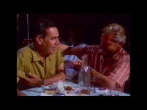 Gerald Durrell and Michalis Chalikiopoulos in Taverna Tripa 1967