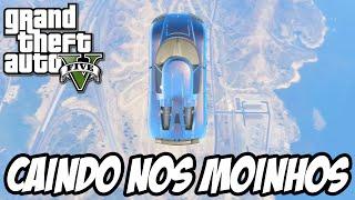 GTA V - Corrida Caindo do Céu em cima dos moinhos