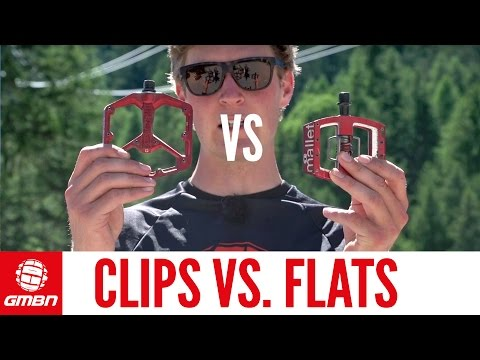 Do Flat Pedals Win Medals?   Clips Vs. Flats