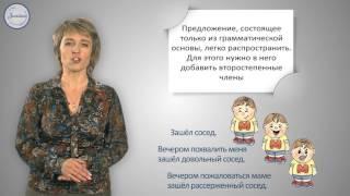 Русский  язык 3 класс. Предложения распространенные и нераспространенные