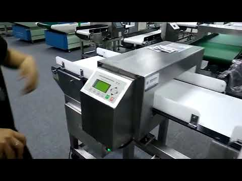 Digital Metal detector for food jar product packaging line to dect small wares or other metal materi