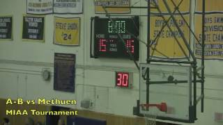 Acton Boxborough Varsity Boys Basketball vs Methuen 3/2/12