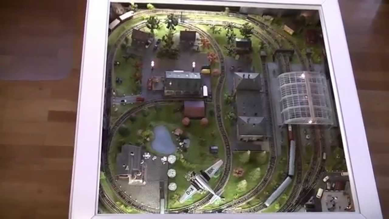 & Model Train Coffee Table in N scale - YouTube