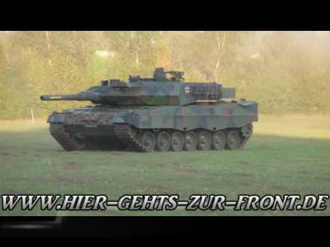 Leopard 2 Zerquetscht Auto // Mit Nebelgranaten // Panzer Vorführung