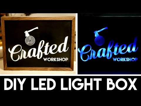 DIY Light Box Sign with LASERS!   How To Build