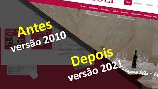 O Antes e Depois de um Site Feito em 2010 e Atualizado em 2021 - Samuca Webdesign - Criação de Sites