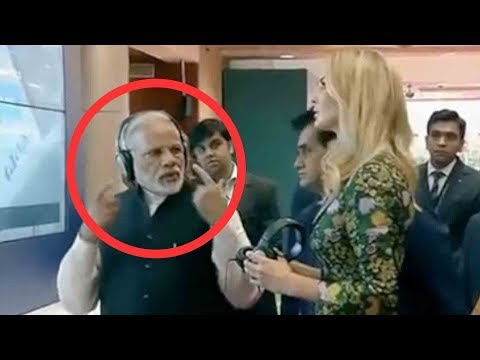 Narendra Modi With Cute Ivanka Trump In Hyderabad..India...global entrepreneurship summit 2017