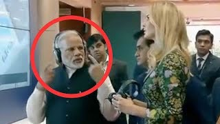 Narendra Modi With Cute Ivanka Trump In Hyderabad..India...global entrepreneurship summit 2017