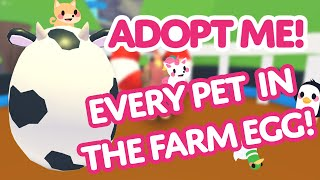 Every Pet in the Farm Egg 🐄 🥚  Adopt Me! on Roblox