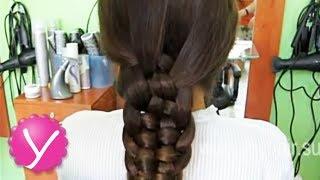 Плетение кос - коса из пяти прядей