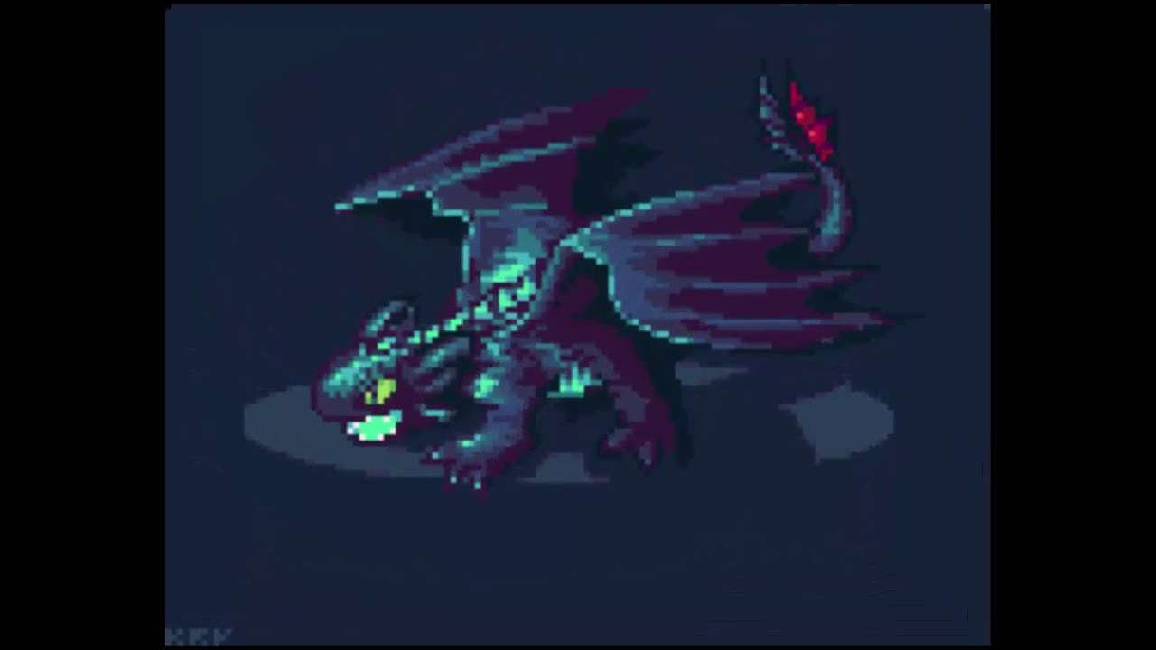 Pixel Art Speedpaint U2014 Toothless (How To Train Your Dragon)