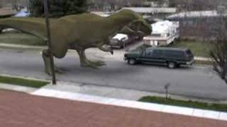 Dinosaur on my street