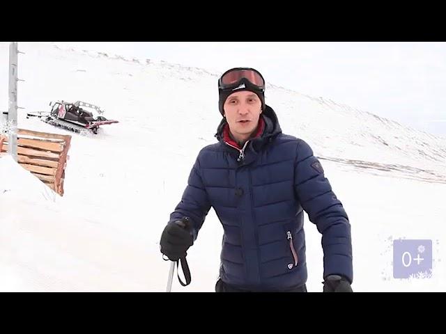 ОРТ поздравляет с Новым годом. Лыжи