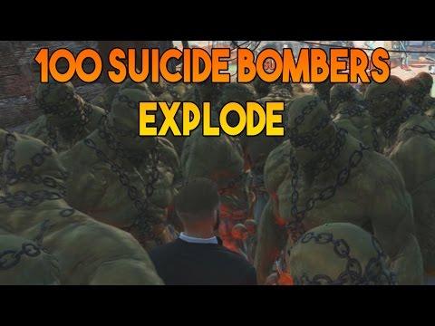 Fallout 4 - When 100 super mutant suiciders explode @ Diamond City - 동영상