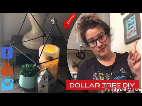 DIY Dollar Tree  ONLY $1.00!!! || Faux Metal House|| modern farmhouse decor || bamboo skewers