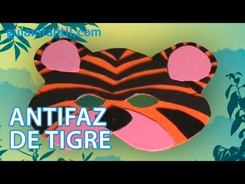 Manualidades de disfraz casero antifaz de tigre youtube - Mascaras para carnaval manualidades ...