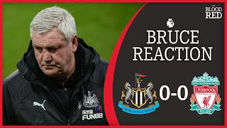 Steve bruce's post-match press conference from st james' park following newcastle united 0-0 liverpool in the premier league.produced by kai delaneythe liver...
