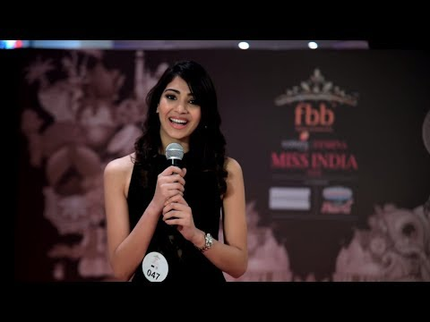 Yogita Bihani's Q & A performance at Miss India Rajasthan 2018 Auditions