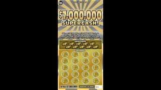 $25 - $7 MILLION SUPERCASH - NEW-! Lottery Bengal Scratch Off instant NEW TICKET TUESDAY!