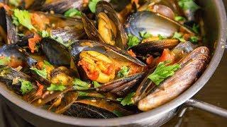 Мидии в ракушках в томатном соусе | АСМР |  Рецепт