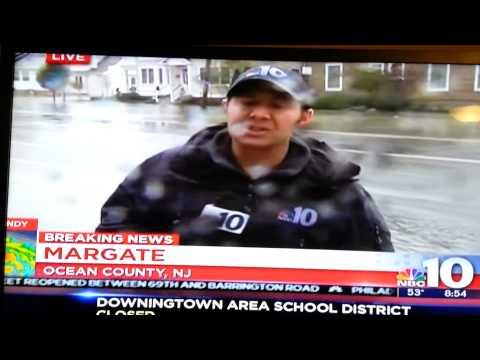 Tracking Sandy....MARGATE, Ocean County, Nj