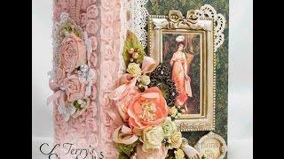 Graphic45 Portrait Of A Lady Scrapbook Mini Album Reneabouquets Design Team Project