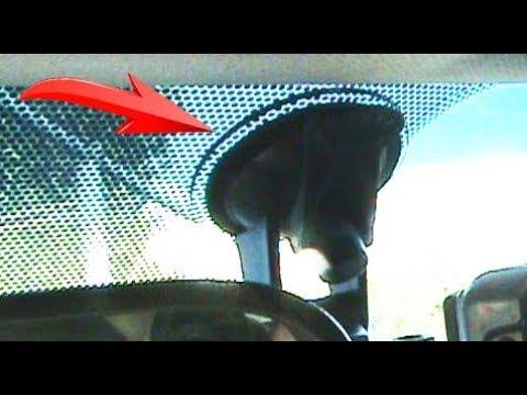 Как приклеить видеорегистратор на лобовое стекло