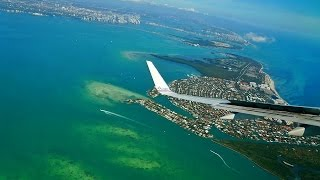 Spectacular Landing at Miami Airport MIA on a Beautiful Day, with American Airlines B757