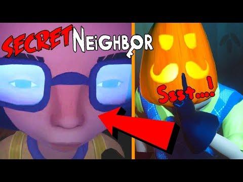 IK BEN DE BUURMAN !! Secret Neighbor *Halloween* !! ft. Aziz, Luka & Polle