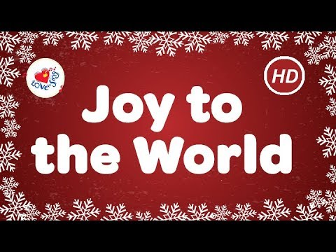 Joy to the World Christmas Song & Carol with Sing Along Lyrics | Children Love to Sing