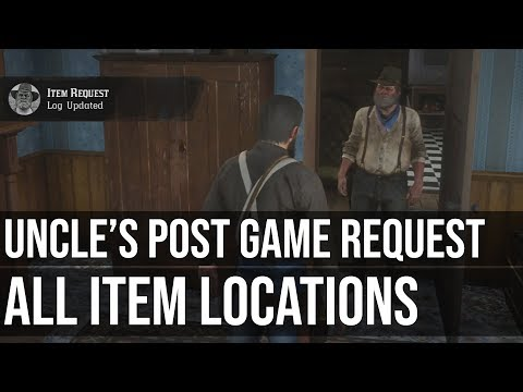 Uncle S Camp Item Request Locations Post Game Red Dead