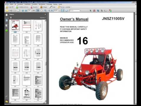 Joyner Viper 1100 - Owners Manual and Spare Parts Catalogue