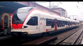 Germany to Switzerland Through Alps By Train : Stuttgart to Lake Konstantin [Full HD]