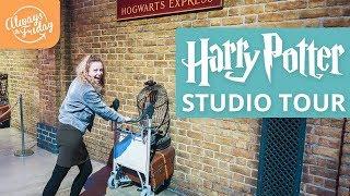 HARRY POTTER STUDIO TOUR GUIDE - Hogwarts, Forbidden Forest & Butter Beer - London Vlog 2018