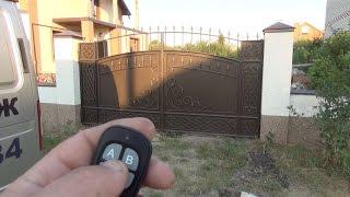 видео Автоматические распашные ворота своими руками