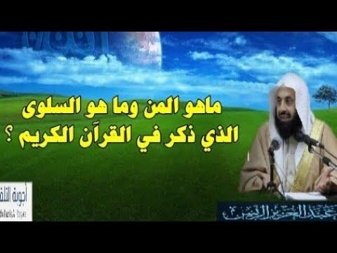 ماهو المن وما هو السلوى كما ذكر في القرآن الكريم ما هو المعنى د عبدالعزيز الريس Youtube