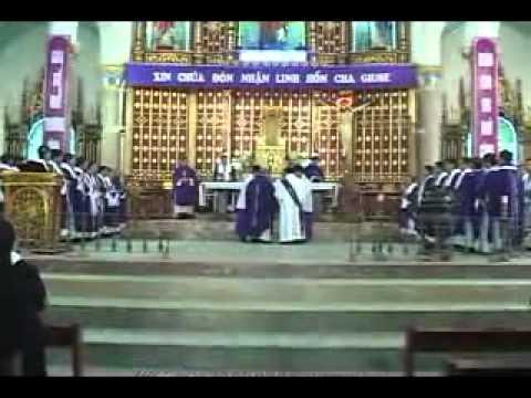lễ an táng cha Giuse Vũ Văn Đại 6 đền thánh Sa Châu làng Gòi Giao Châu